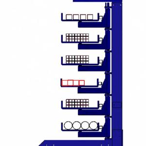 Kragarmregal Schwenkarmregal Einseitig, Zwei Säulen - 500mm