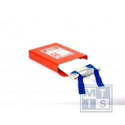 Feuerlöschdecke: Einzelschickt-Decke, 120x120cm, Hardbox