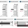 Kragarmregal Schwenkarmregal Doppelseitig, Zwei Säulen - 800mm
