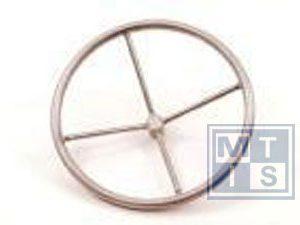 Handrad 4-Speichen aus Edelstahl 400 mm