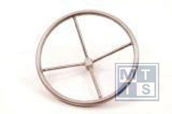 Handrad 3-Speichen aus Edelstahl 350 mm