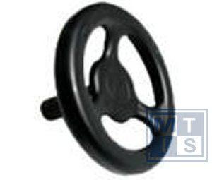 Handrad 3-Speichen aus Stahl 125 mm