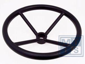 Handrad 3-Speichen aus Carbon-Stahl 350 mm