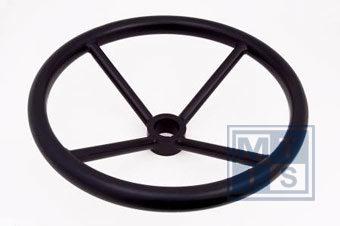 Handrad 4-Speichen aus Carbon-Stahl 450 mm