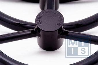 Handrad 4-Speichen aus Carbon-Stahl 400 mm