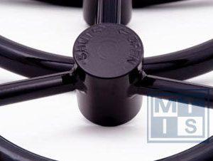 Handrad 4-Speichen aus Carbon-Stahl 500 mm