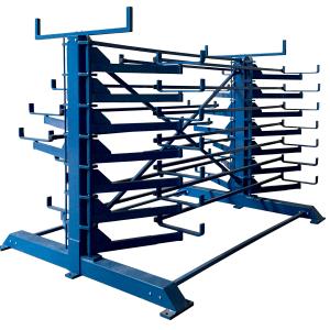 Kragarmregal Schwenkarmregal Doppelseitig, Zwei Säulen - 500mm